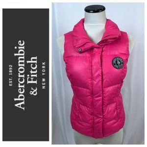 Abercrombie & Fitch Pink Down Mix Puffer Vest